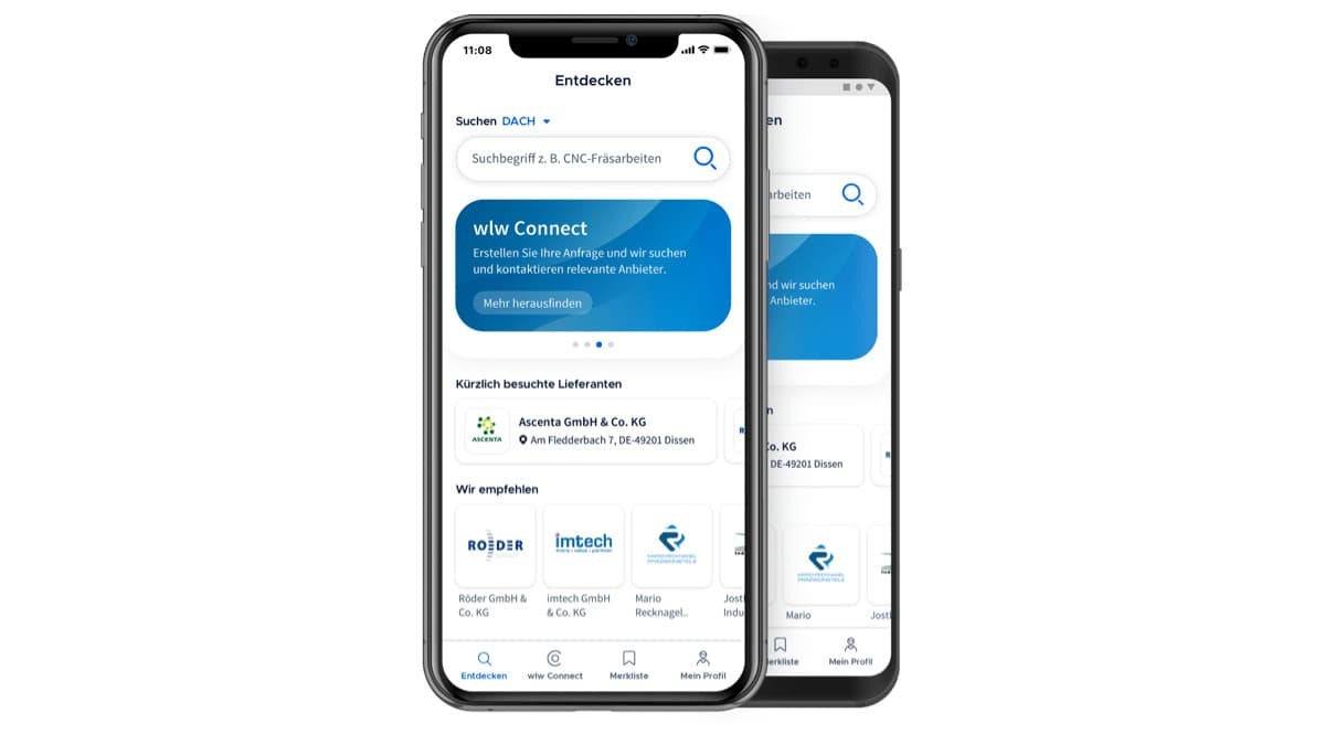 wlw-App auf Smartphone