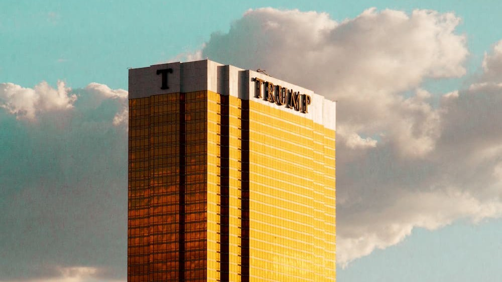 Goldener Trump Tower in Las Vegas