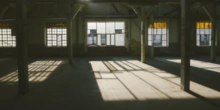 Lieferant Insolvenz: Leere Produktionshalle