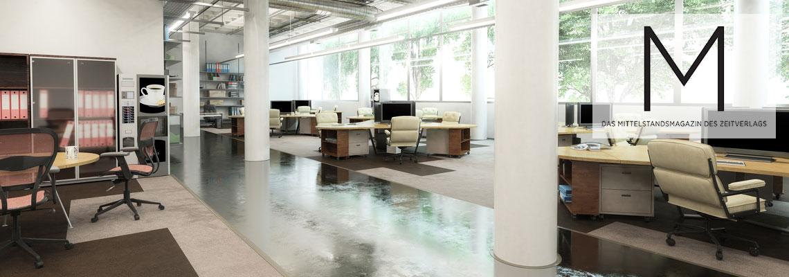 Optimierte Bürofläche