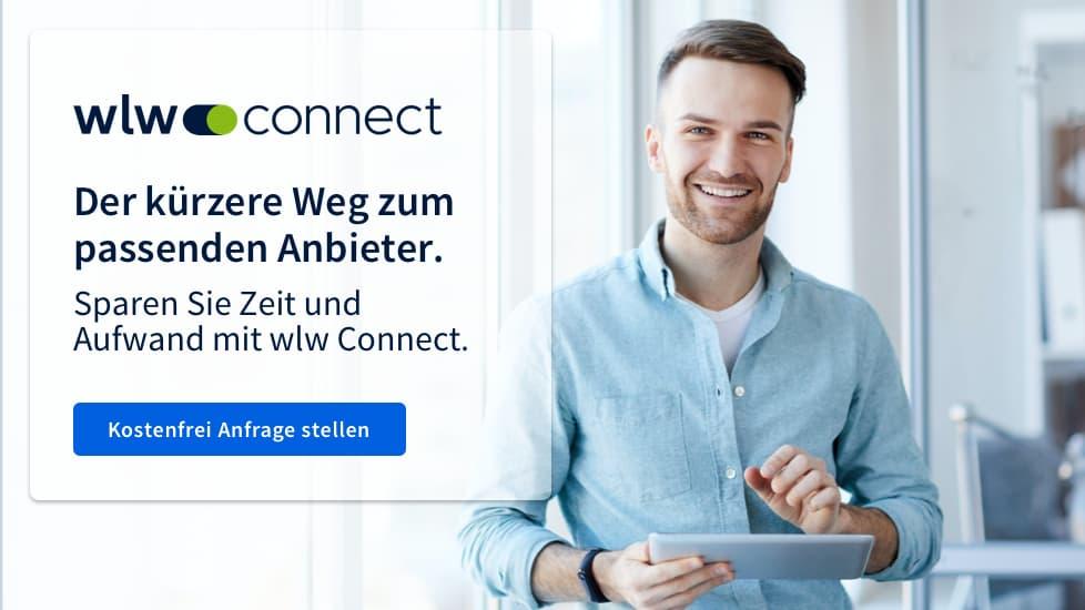 Mann verwendet wlw Connect
