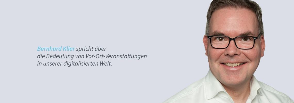 Bernhard Klier - Vor-Ort-Veranstaltungen